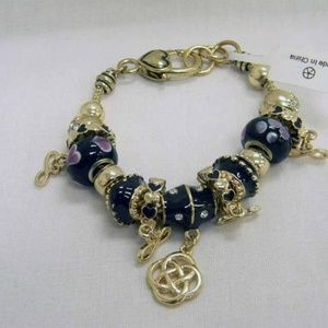 Jewelry - CELTIC KNOT INFINITY BLACK & GOLD BEADED BRACELET